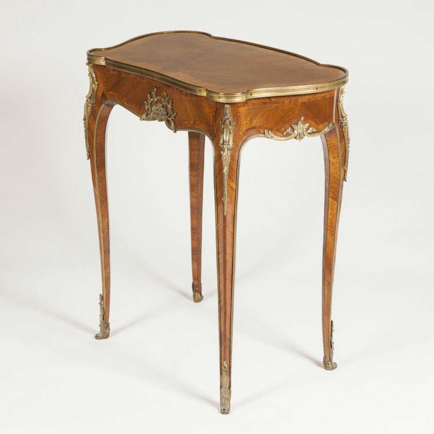LOUIS XV STYLE MARQUETRY WRITING TABLE